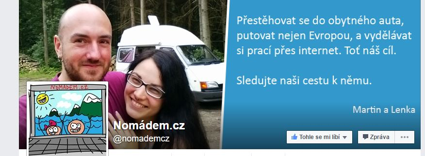 Nomádem.cz facebook fanpage