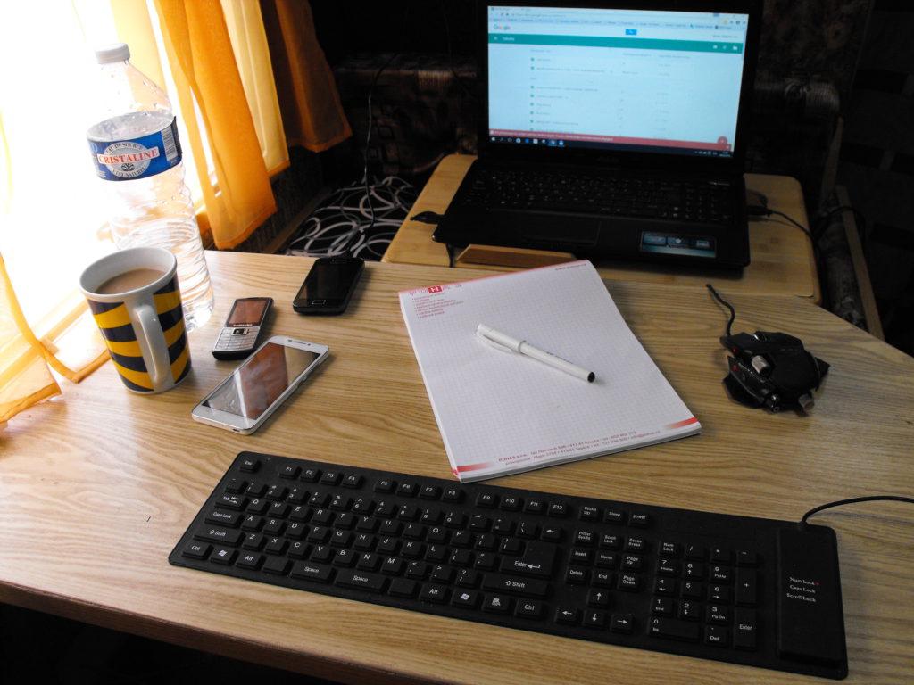 pracoviště digitálního nomáda