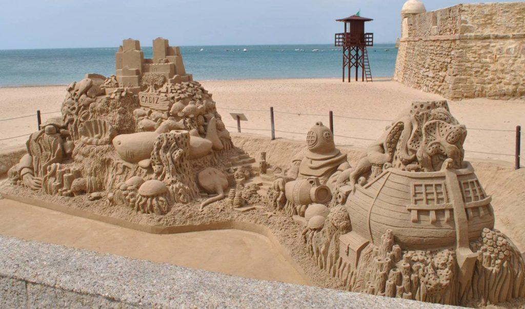 Cádiz - písková socha pro město Cádiz (ES)