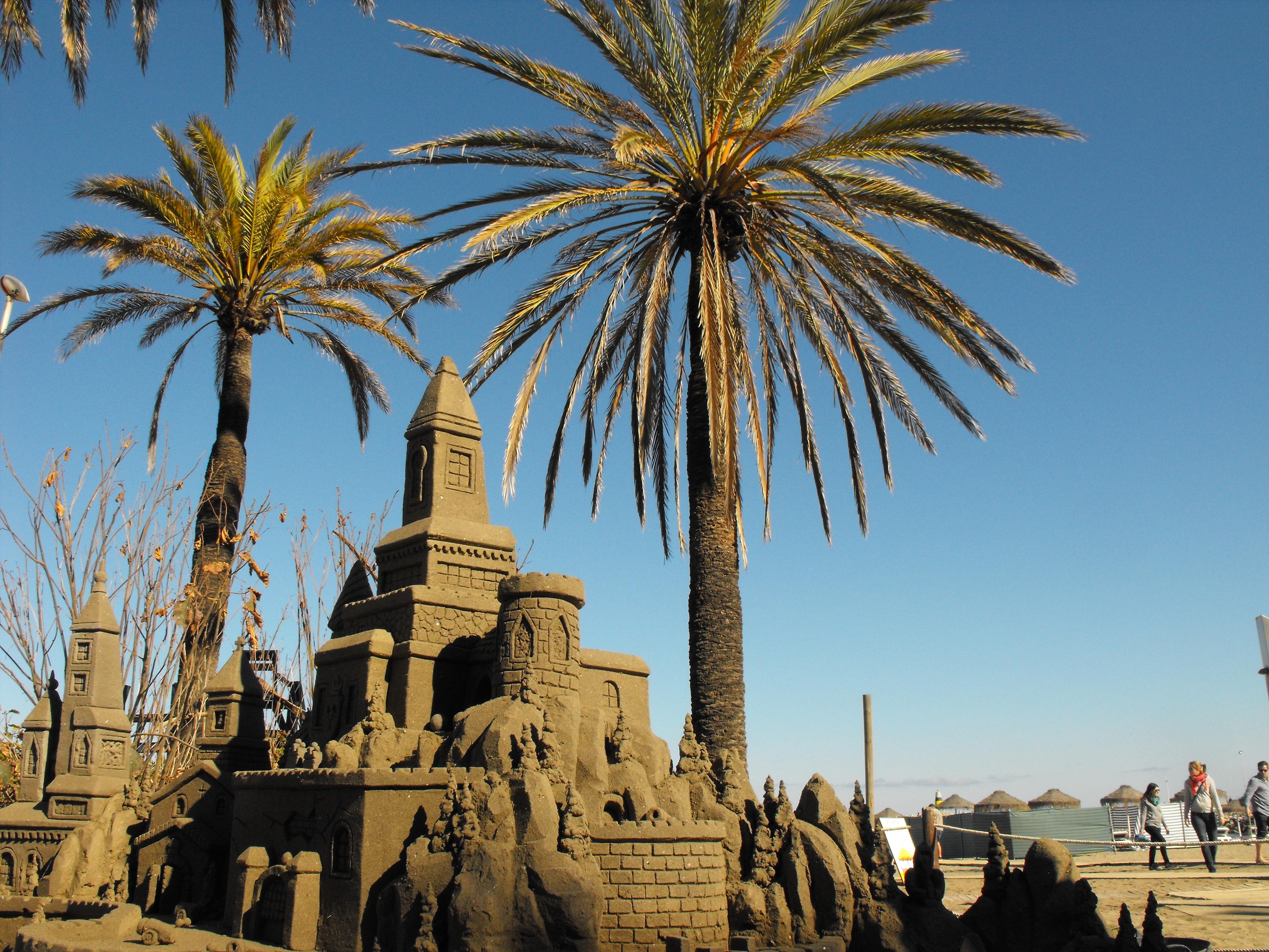 písková socha Benalmádena